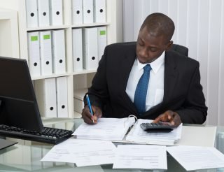 Accountant Working In Office