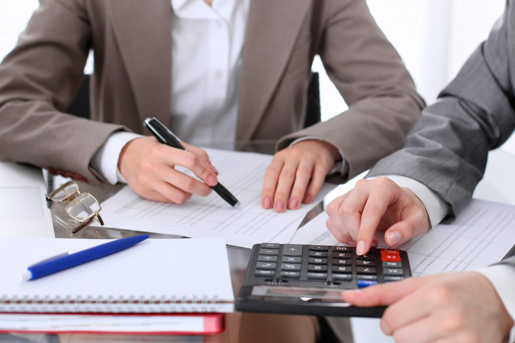 Accountants working in an office